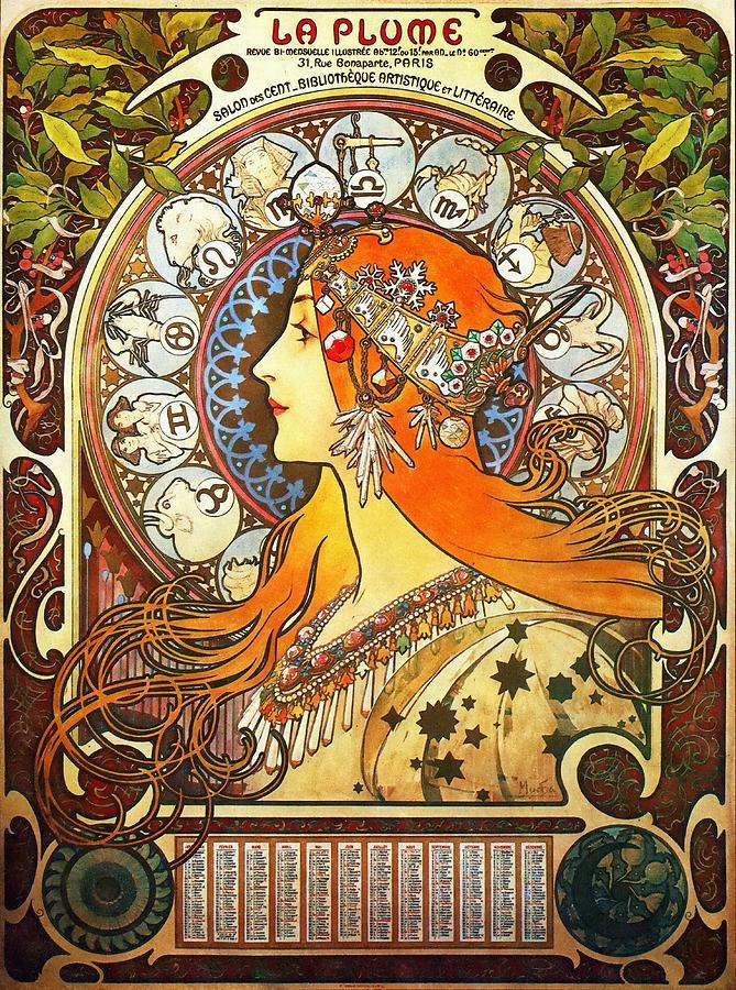La Plume Zodiac Painting