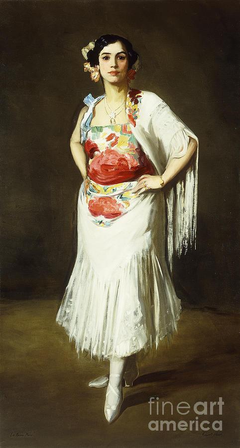 Portrait Painting - La Reina Mora by Robert Henri