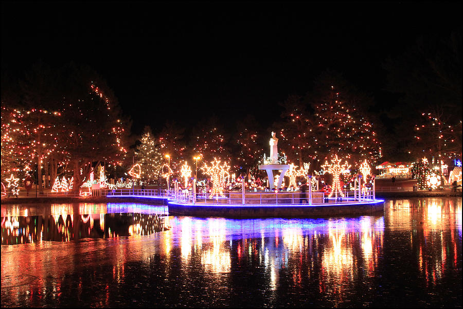 La Salette Festival Of Lights Photograph By Peter Vogt