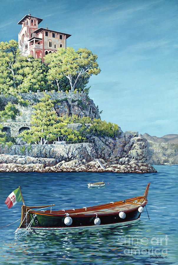 Portofino Painting - La Vie En Rose by Danielle  Perry