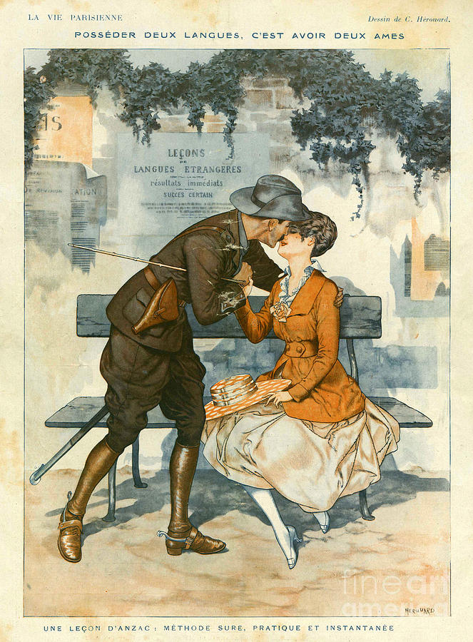 La Vie Parisienne 1916 1910s France Drawing  - La Vie Parisienne 1916 1910s France Fine Art Print