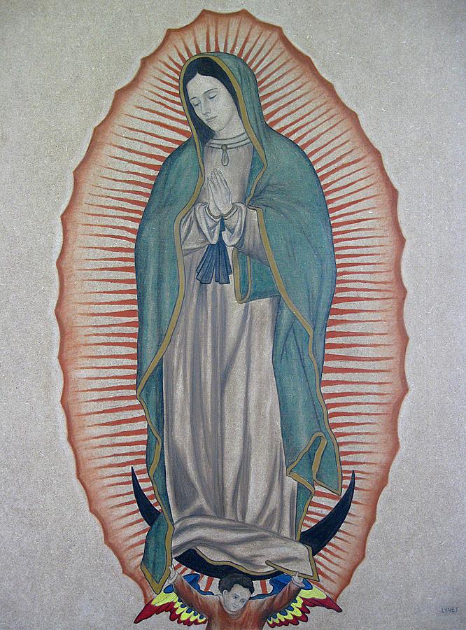 Virgen De Guadalupe Painting - La Virgen De Guadalupe by Lynet McDonald