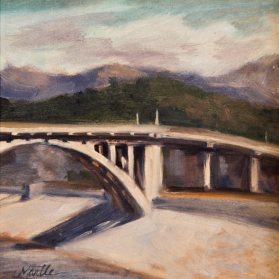Los Angeles River Painting - La Wash by Athena  Mantle