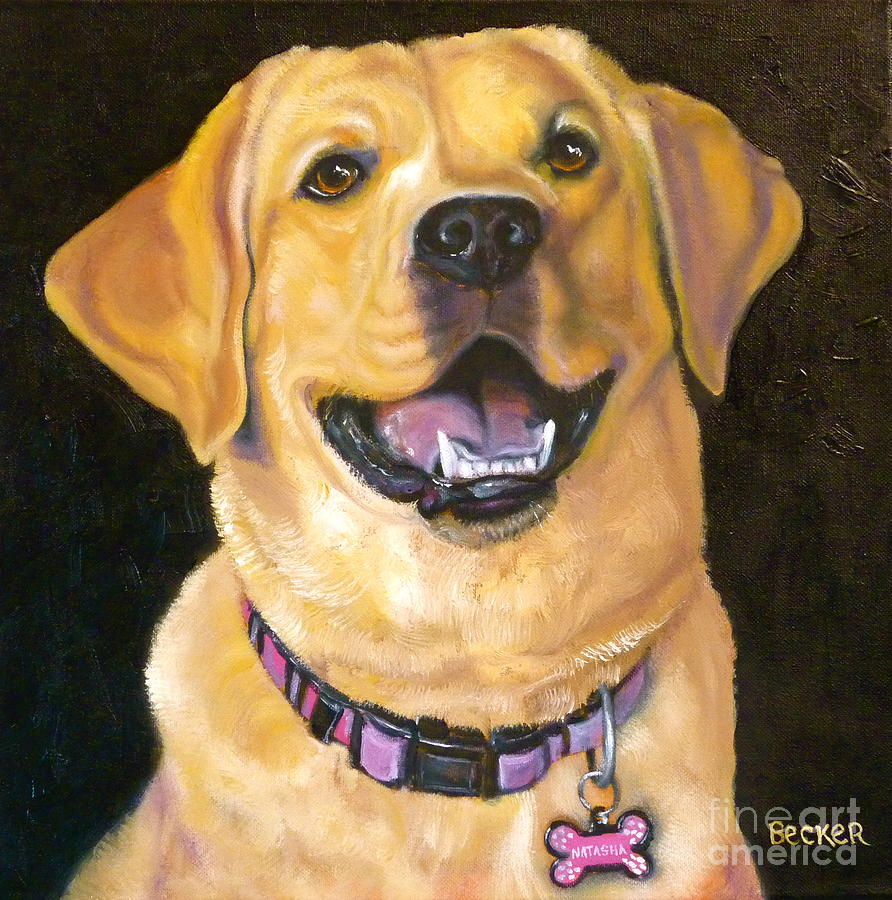 Lab Adorable Painting  - Lab Adorable Fine Art Print