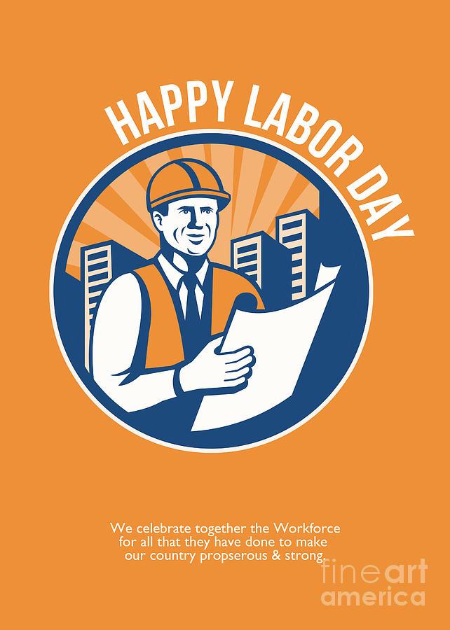 Labor Day Celebration Poster Retro by Aloysius Patrimonio ...
