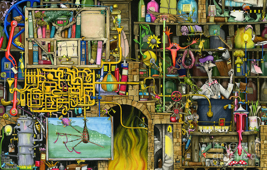 Bizarre Painting - Laboratory by Colin Thompson
