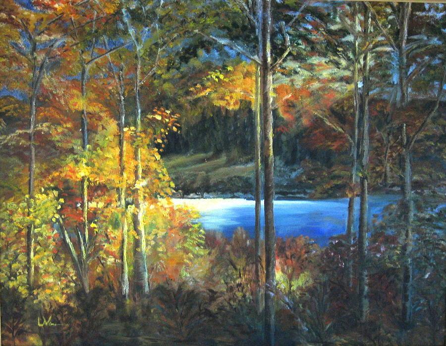 Lac Fortune Gatineau Park Painting - Lac Fortune Gatineau Park Quebec by LaVonne Hand