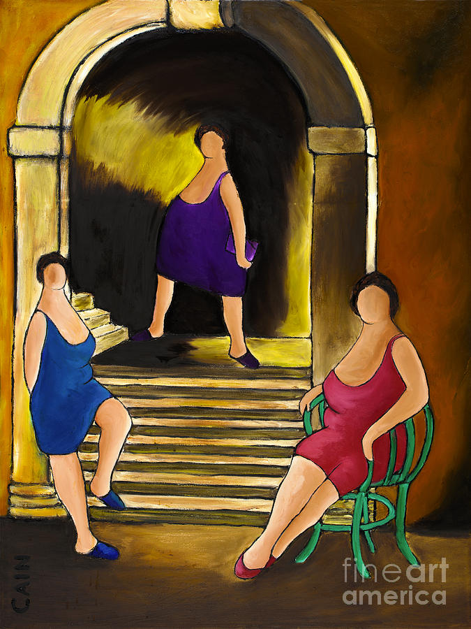 Ladies Of The Night Painting  - Ladies Of The Night Fine Art Print