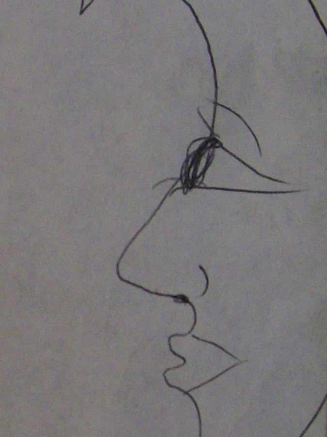 Lady Blue Moon Drawing