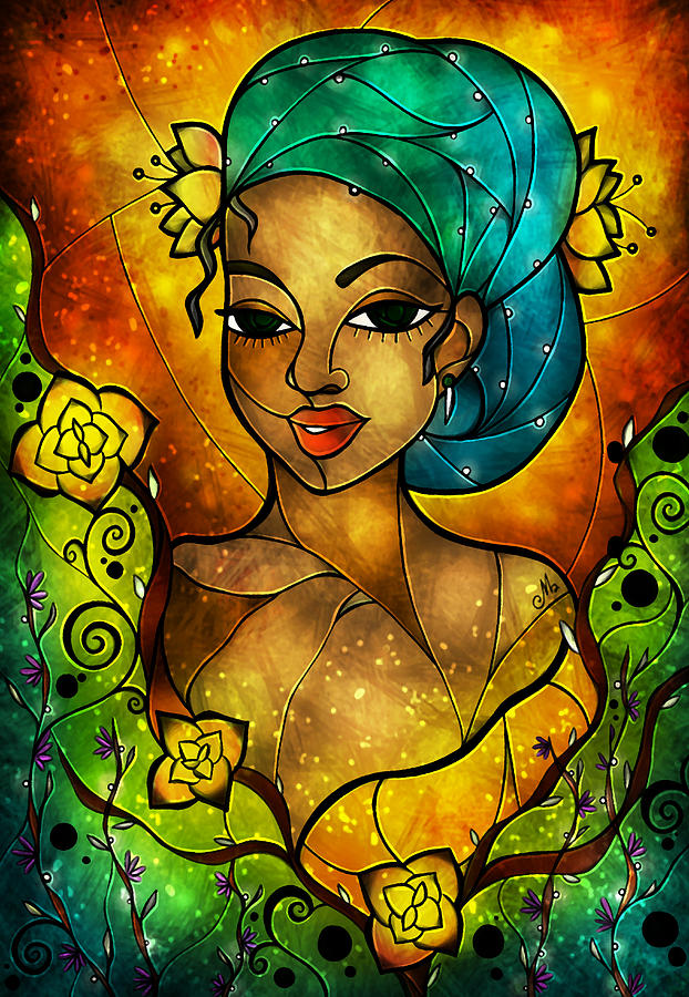 Lady Creole Digital Art  - Lady Creole Fine Art Print