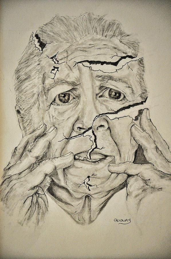 Lady Falling Apart Drawing