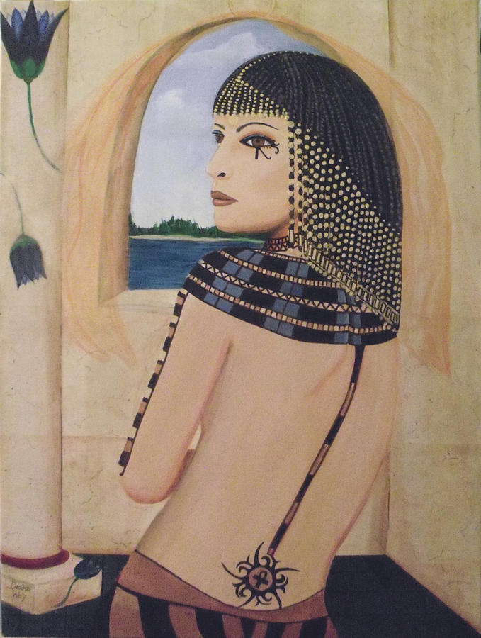 Lady Gaga Egyptian Princess Painting  - Lady Gaga Egyptian Princess Fine Art Print