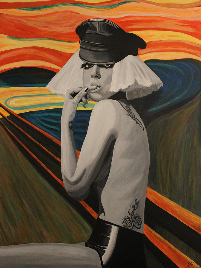 Lady Gaga In Scream Painting  - Lady Gaga In Scream Fine Art Print