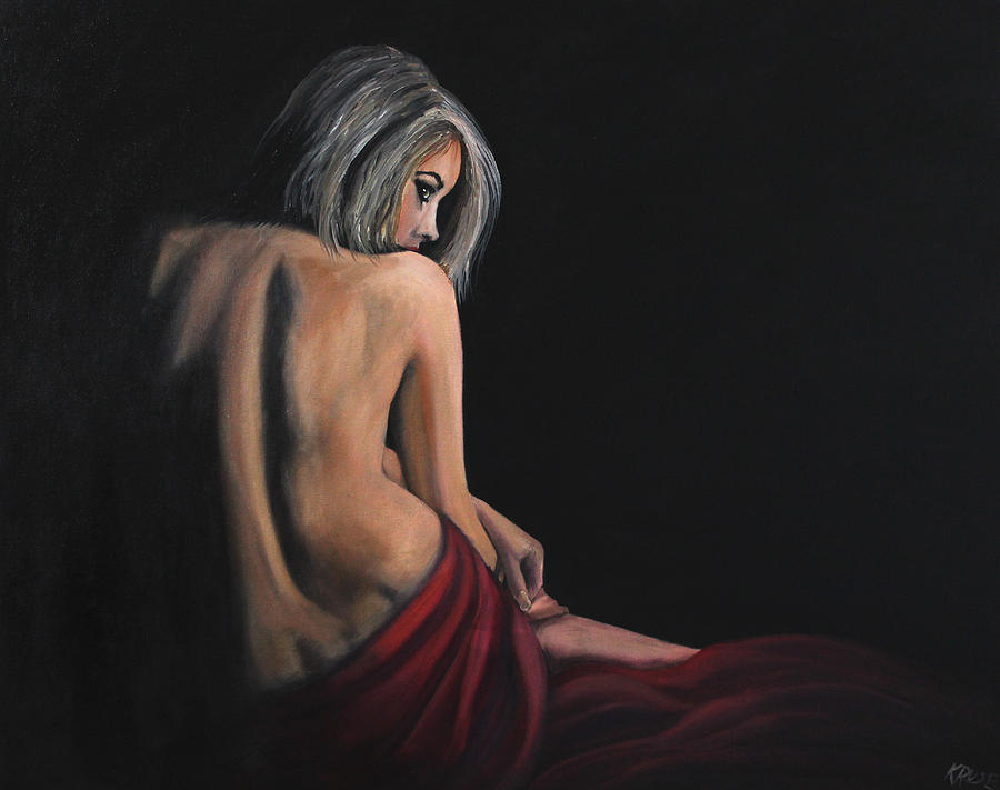 Lady In Red Painting  - Lady In Red Fine Art Print