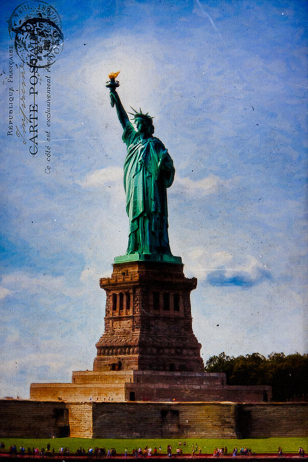 Lady Liberty Lifts Her Light Photograph  - Lady Liberty Lifts Her Light Fine Art Print