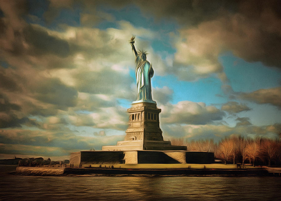 Lady Liberty The Statue- Nyc Photograph