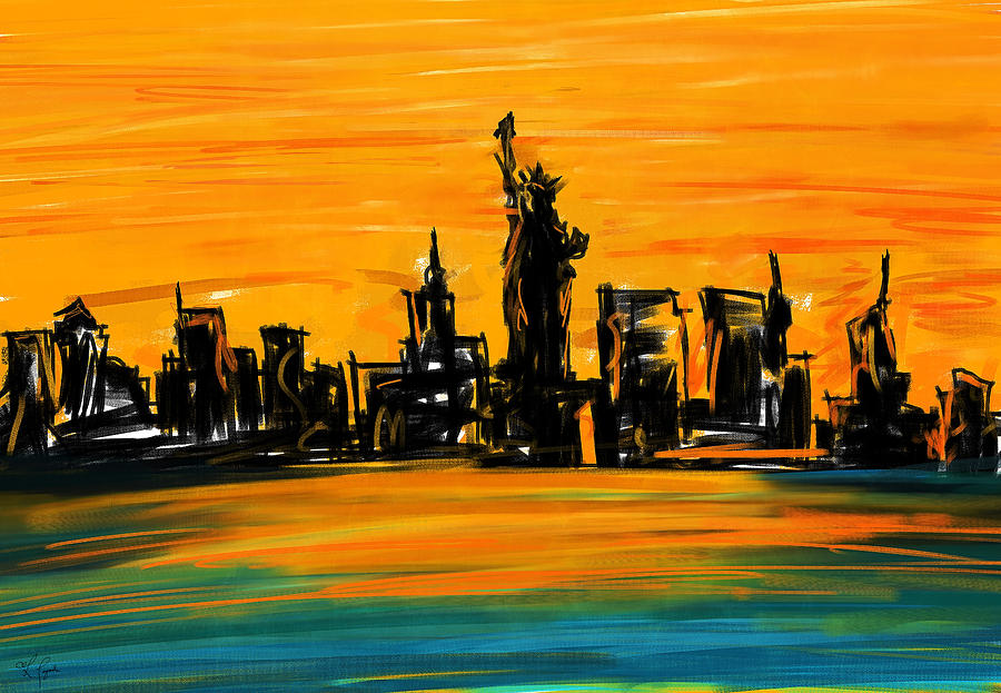 Lady Of New York Painting