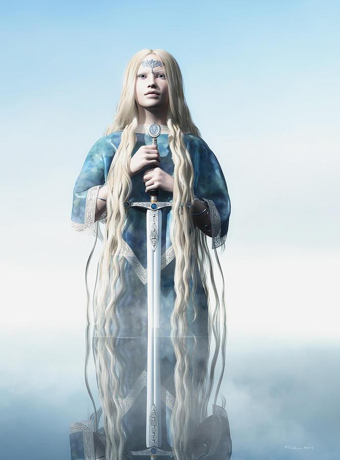 Fantasy Digital Art - Lady Of The Lake by Melissa Krauss