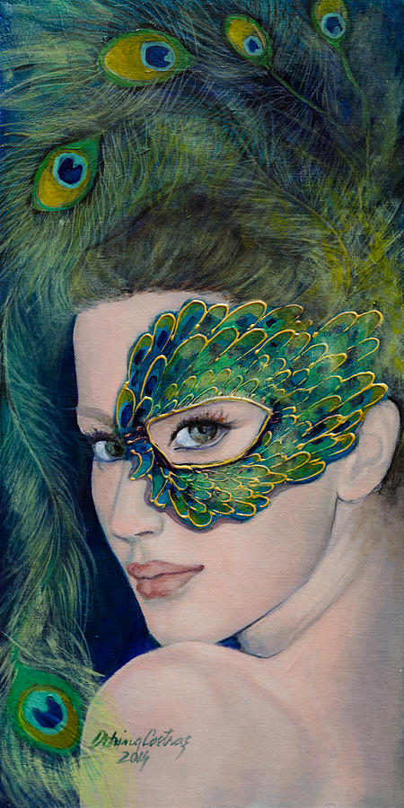 Art Painting - Lady Peacock by Dorina  Costras