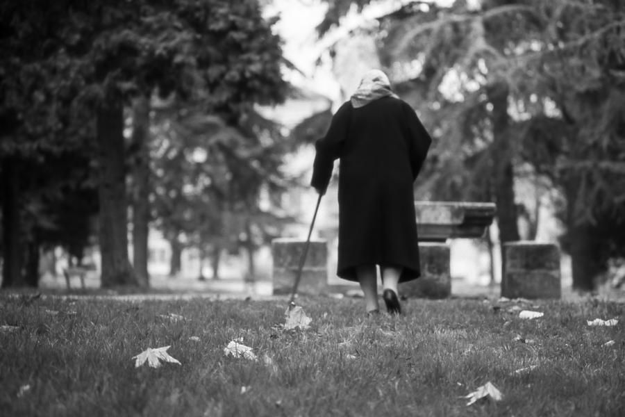 Lady With Cane Photograph  - Lady With Cane Fine Art Print