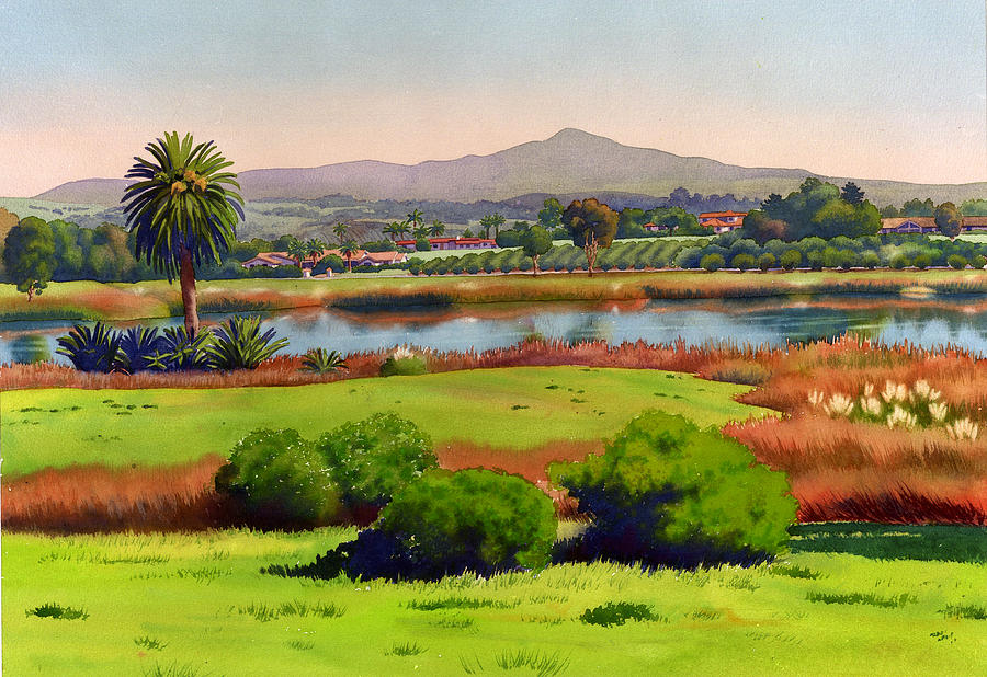 California Painting - Lago Lindo Rancho Santa Fe by Mary Helmreich