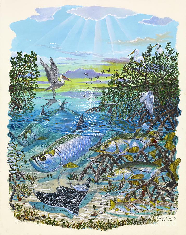 Lagoon Painting - Lagoon by Carey Chen