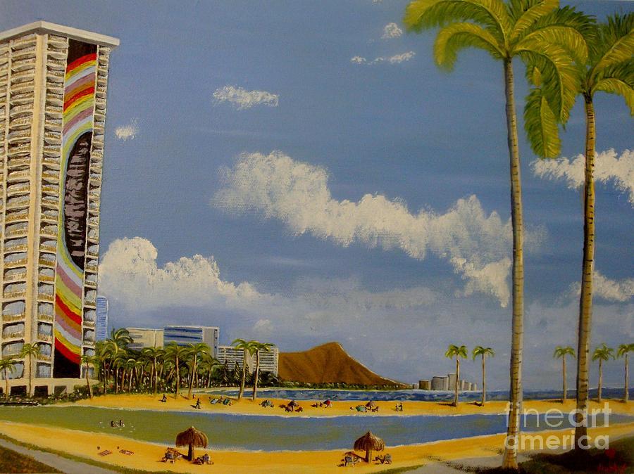 Lagoon On Waikiki Painting