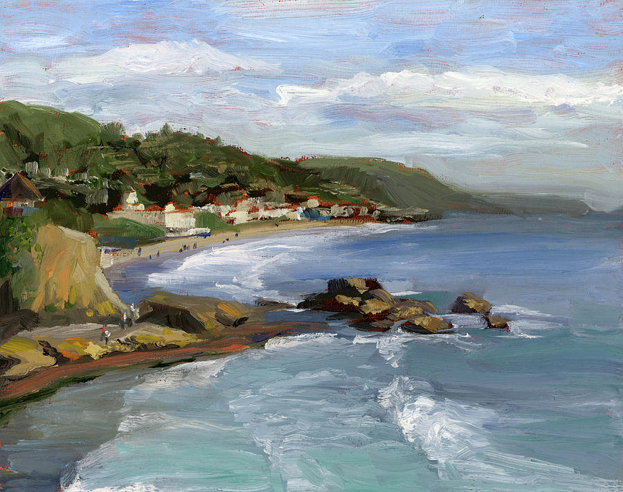 Laguna Beach Painting - Laguna Beach by Alice Leggett