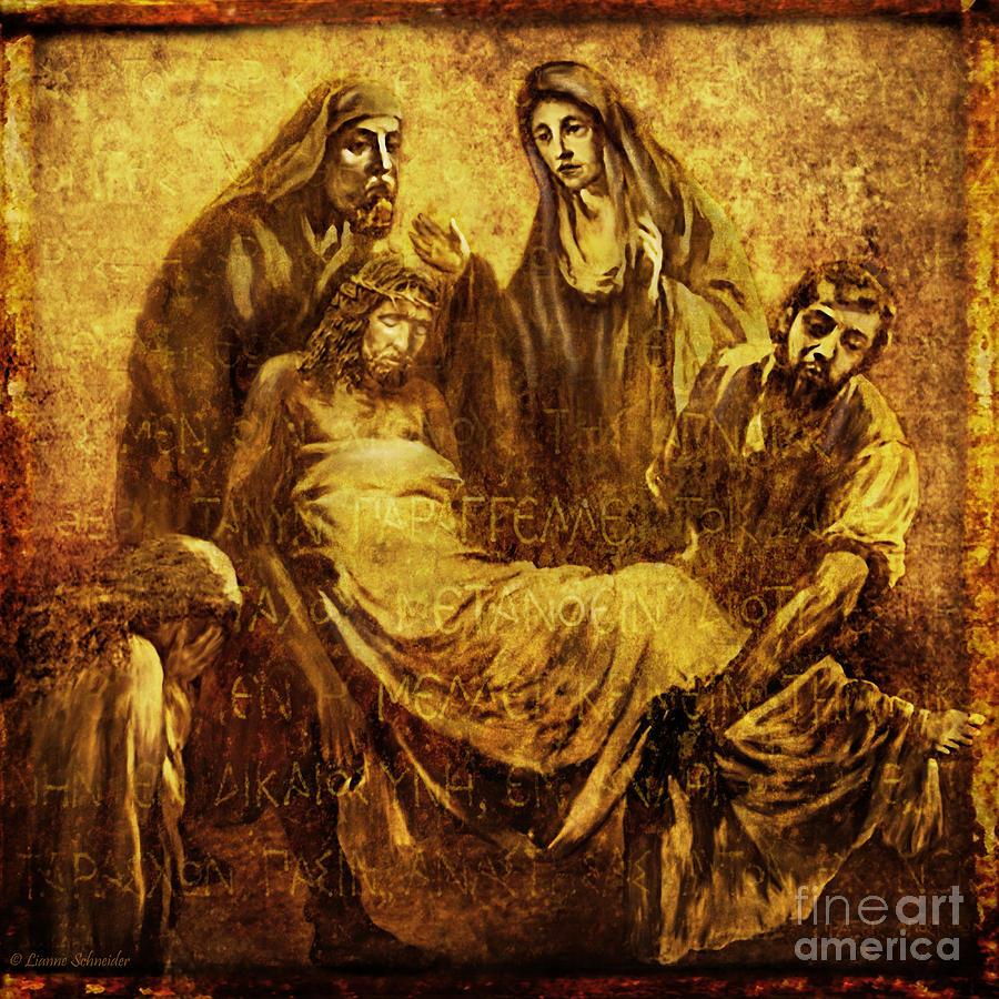 Jesus Digital Art - Laid_in_the_tomb Via Dolorosa 14 by Lianne Schneider