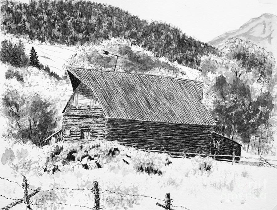 Lake City Barn Drawing