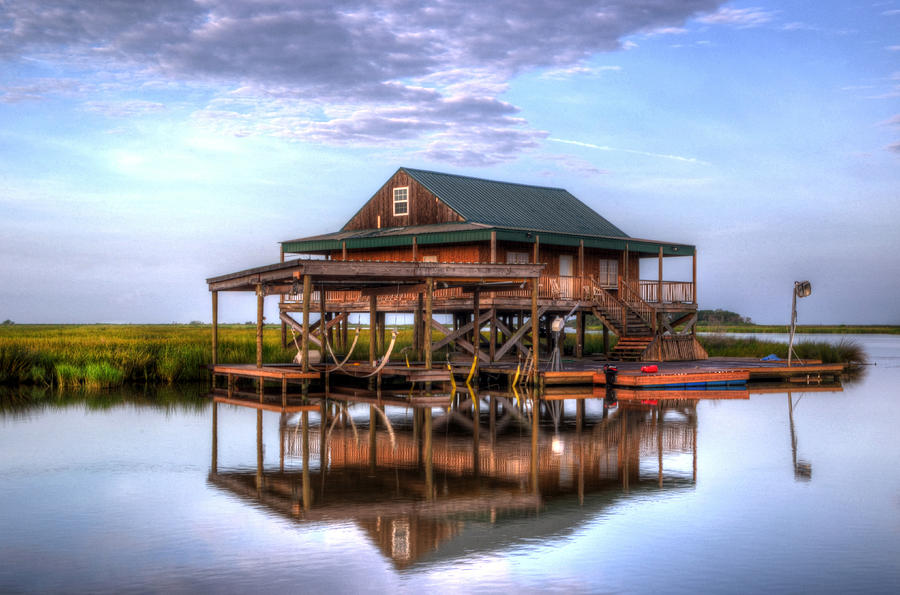 Lake hermitage bayou fish camp photograph by greg and for Louisiana fishing camps