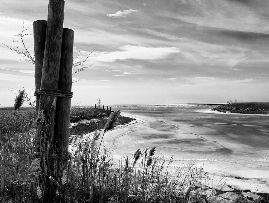 Lake Ice Bw Photograph