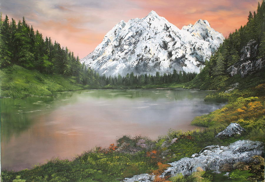 Lake In Austria Painting