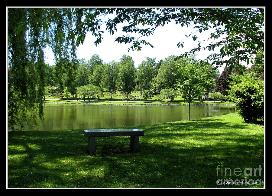 Lake In Forest Lawn Cemetery Buffalo Ny Photograph  - Lake In Forest Lawn Cemetery Buffalo Ny Fine Art Print