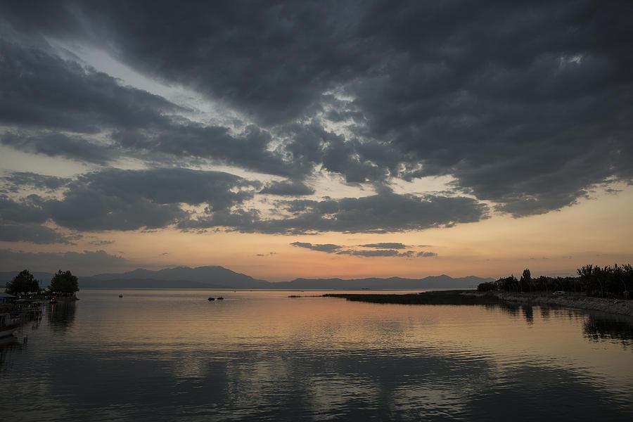 Lake In Sunset Photograph
