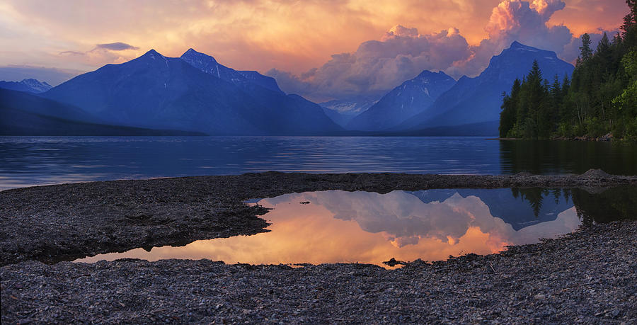 Lake Mcdonald Sunset Photograph