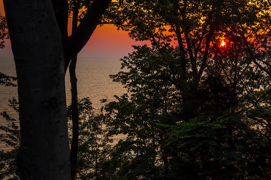 Lake Michigan Sunset Photograph  - Lake Michigan Sunset Fine Art Print