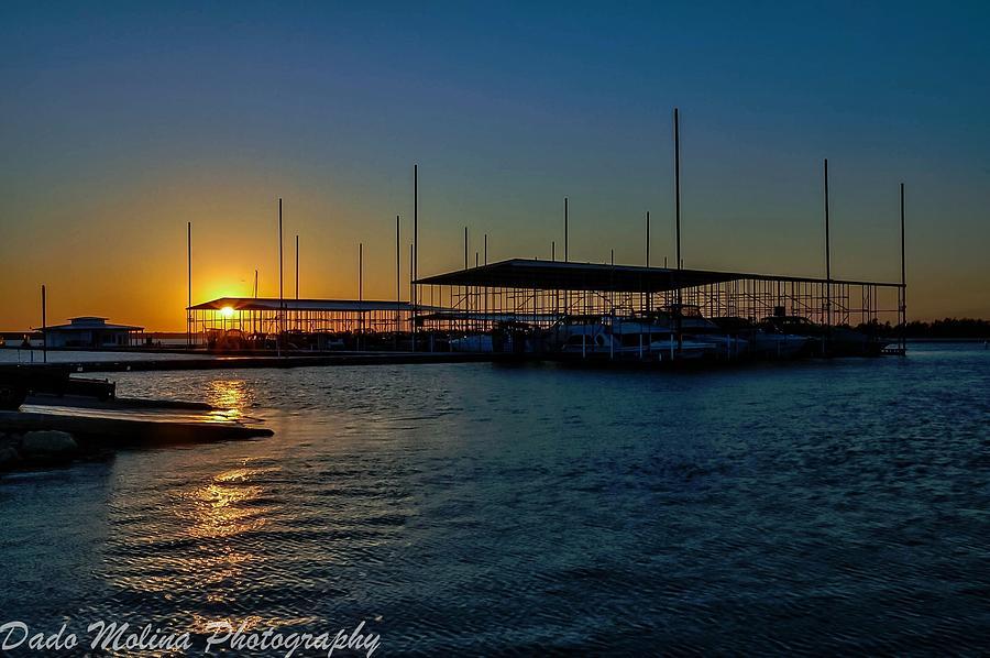 Lake Sunset Digital Art