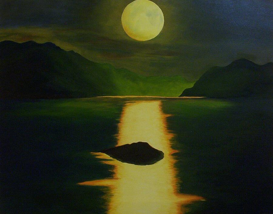 Original Oil Painting Painting - Lake Teletskoe In Russia by Phillip Compton