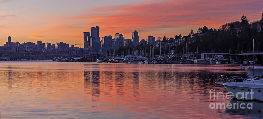 Lake Union Dawn Photograph  - Lake Union Dawn Fine Art Print