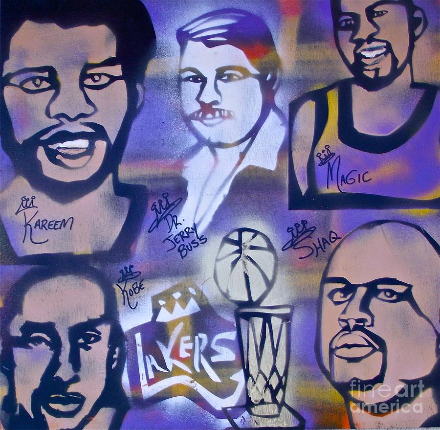 Lakers Love Jerry Buss 2 Painting  - Lakers Love Jerry Buss 2 Fine Art Print
