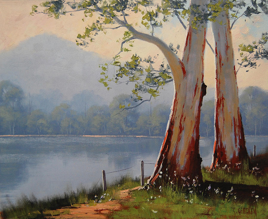 Lakeside Gums Painting