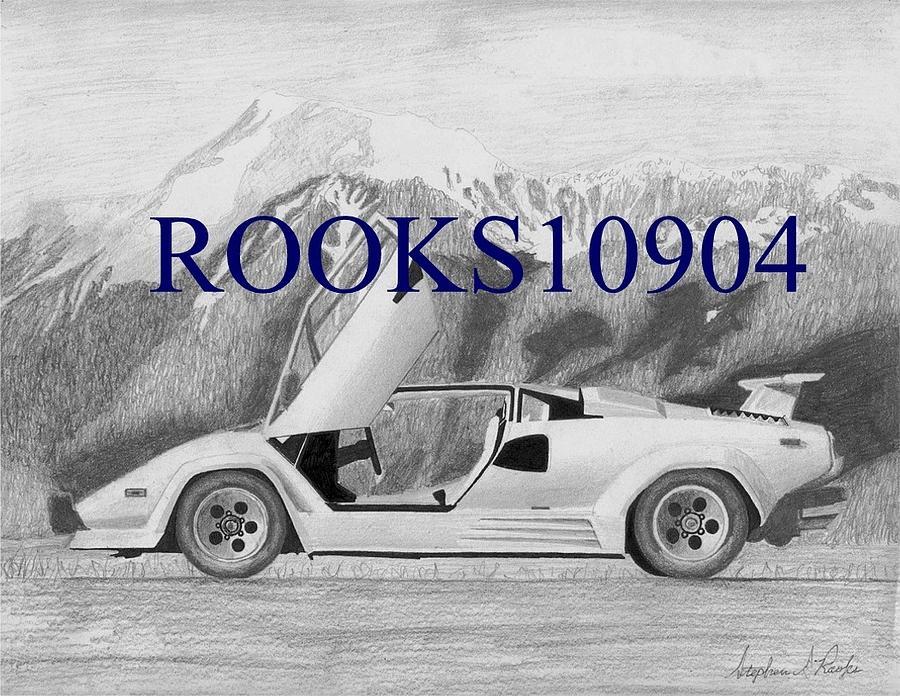 An41 Lamborghini Car Exotic White Art: Lamborghini Countach 5000s Exotic Car Art Print By Stephen