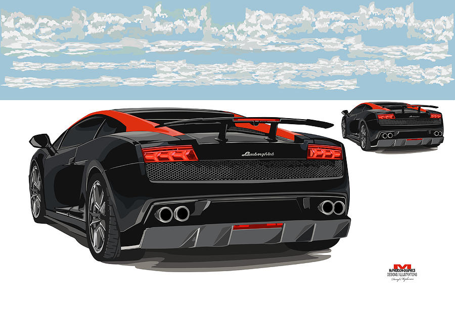 Lamborghini Digital Art