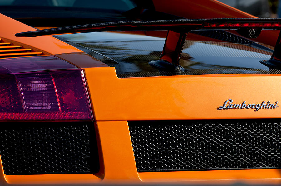 Lamborghini Rear View 2 Photograph