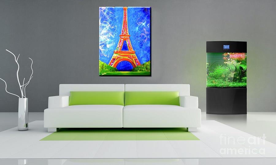 Lamour A Paris Contemporary Showcase Painting