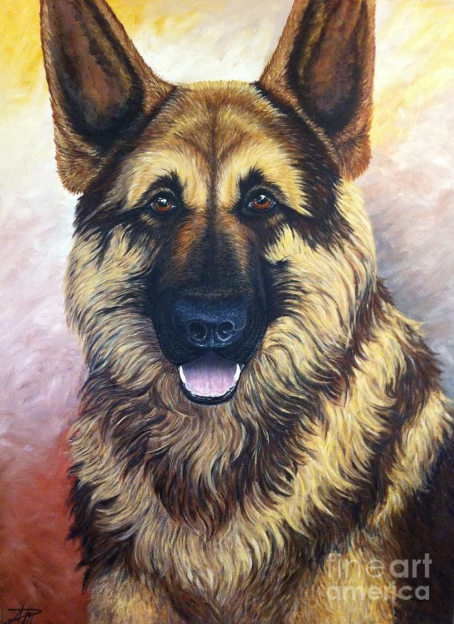 German Shepherd Painting - Lampo by Ana Marusich-Zanor