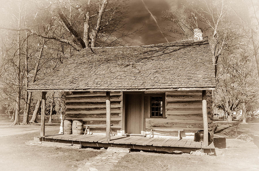 Landow Log Cabin 7d01723b Photograph  - Landow Log Cabin 7d01723b Fine Art Print