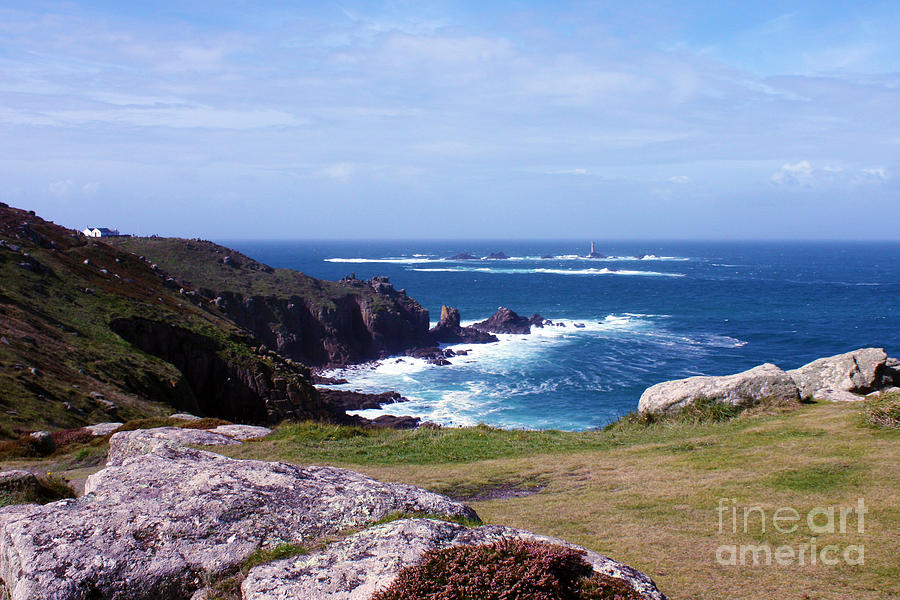 Lands End And Longships Lighthouse Cornwall Photograph