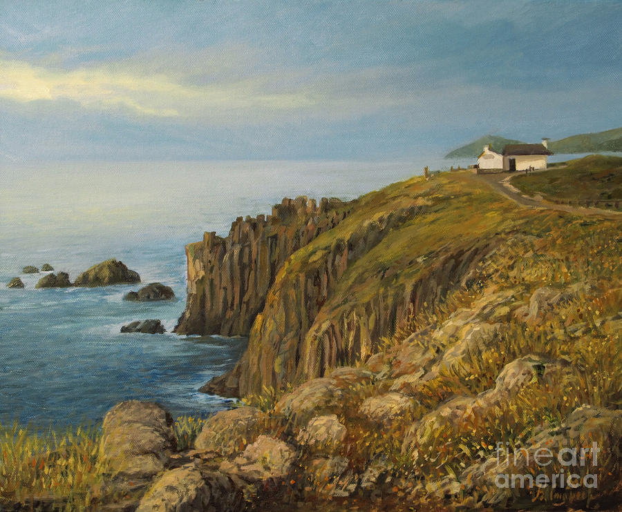 Lands End In Cornwall Painting